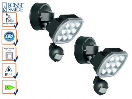 2er-Set HP-LED Außenwandleuchten PRATO Bewegungsmelder 9W, 630 lm