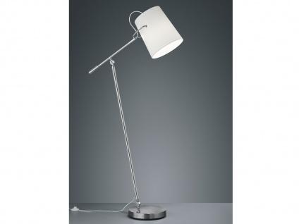Design LED Stehleuchte schwenkbarer STOFF Lampenschirm weiß - Flurbeleuchtung