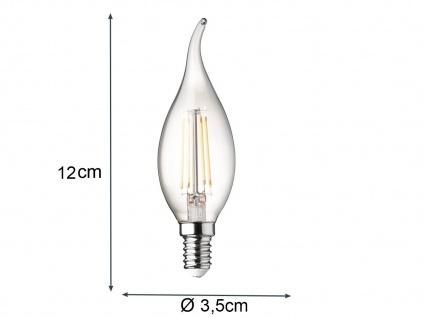 Sturmkerze Filament LED dimmbar E14 Leuchtmittel Vintage für Kronleuchter 3 Watt - Vorschau 5