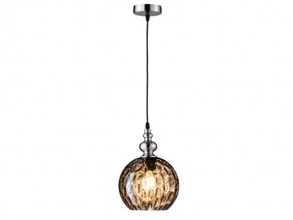 Pendelleuchte Kugelleuchte Glas Amberfarben Ø 20cm LED Hängeleuchte Flurlampe