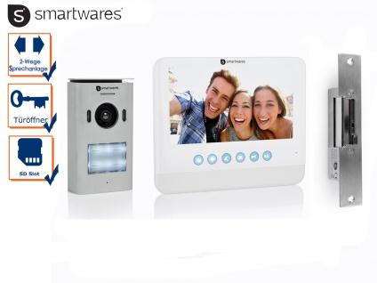 Set: Einfamilienhaus Video Gegensprechanlage mit Kamera + 7 Zoll LCD + Türöffner