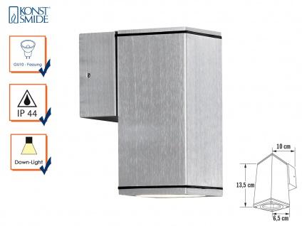Aluminium-Wandleuchte MONZA, GU10-Sockel, H: 13, 5 cm, IP44