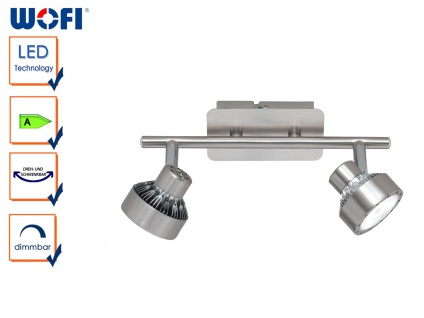 LED Deckenlampe LOCAL, 2-flammig, dimmbar, Deckenleuchte Deckenbalken Spotleiste