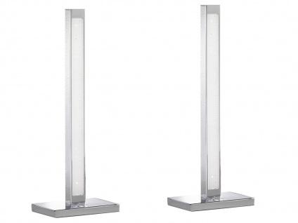 2er Set LED Tischleuchte 3-Stufen Dimmer Chrom H. 44cm Wohnraumleuchten Lampen - Vorschau 2