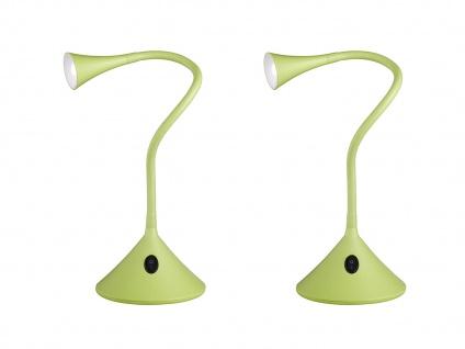 2er SET flexible 2in1 Tischleuchte & Wandleuchte biegsam Weiß für Schreibtisch