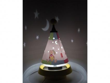 Nachttischleuchte Carrousel projiziert Mond und Sterne mit 3er Set Leuchtmittel - Vorschau 5