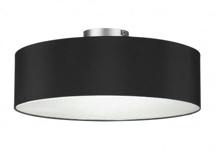 Deckenleuchte mit Stoff Lampenschirm Schwarz 40cm Textil Deckenlampe Stoffschirm
