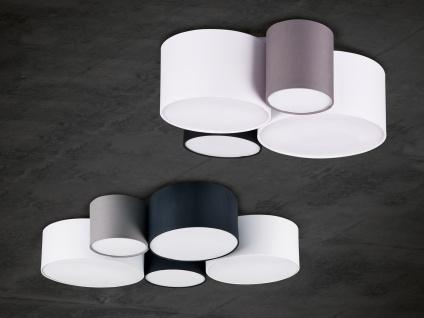 Ausgefallene mehrflammige LED Deckenlampe mit verschiedenen Stofflampenschirmen - Vorschau 3