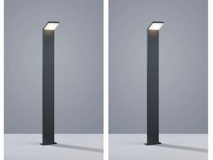 LED Pollerleuchte in Anthrazit 100cm - 2er Set Wegeleuchten Terrassenbeleuchtung