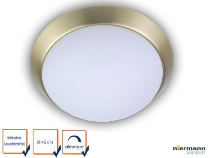 LED Treppenhaus Beleuchtung Deckenlampe matt Ø45cm Garagenlampe Kellerleuchte