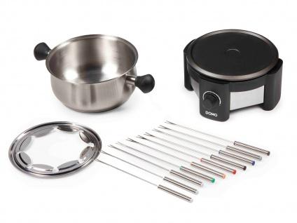 Edelstahl Elektro-Fondue Set inklusive 10 Fonduegabeln für Fleischfondue Gourmet - Vorschau 3