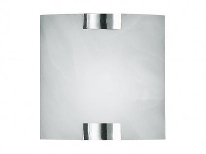 TRIO Wandleuchte, 1 x E14, 20 x 20cm, Glas alabaster, Halterung Nicke