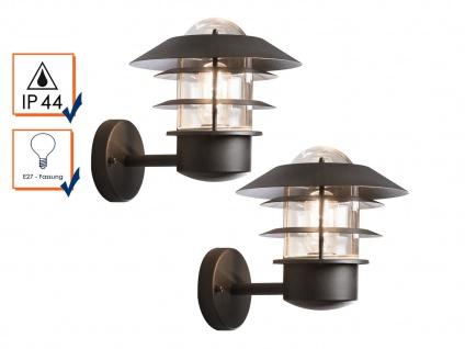 2er-Set Wandleuchten MODENA Aluminium schwarz, E27, Höhe 24 cm, IP44 - Vorschau 4