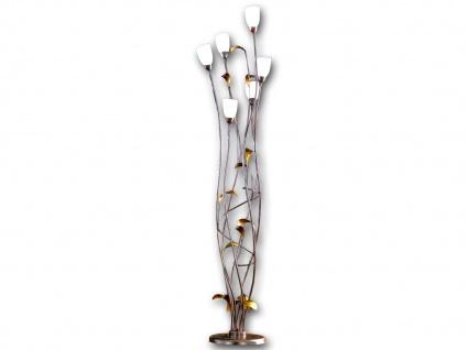 Stehleuchte SUPRA, Höhe 188 cm, rostfarben antik/gold, Honsel-Leuchten