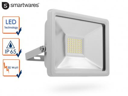 30W Strahler grau Baustrahler LED neutralweiß Scheinwerfer Arbeitsleuchte Fluter