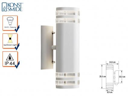 Aluminium Up-Down Wandleuchte weiß GU10 Höhe 28, 5 cm IP44 Fassadenbeleuchtung