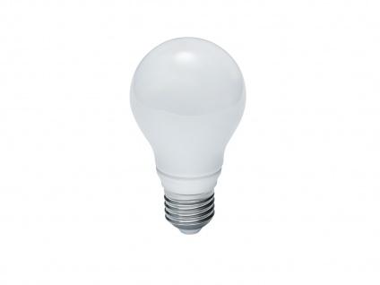 Led-Leuchtmittel mit E27 Fassung, 6W & 470lm warmweiß, nicht dimmbar, Glas weiß