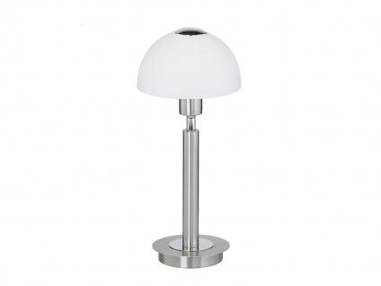 Tischlampe Glasschirm weiß, Nickel matt, inkl. LED, Action by Wofi