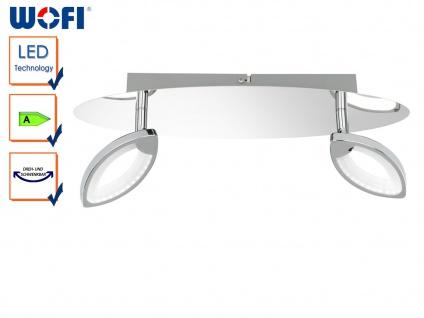 LED Deckenleuchte CAREY, Chrom, L. 37cm, 2-flammig, Deckenbalken Deckenlampe