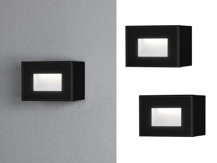 2x LED Wandspot Unterputz Außenwandleuchte Auf-& Einbauleuchte schwarz 12x8cm