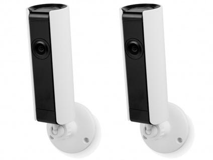 Indoor IP Kameraset mit Nachtsicht Bewegungssensor Mikrophon, Appsteuerung Handy