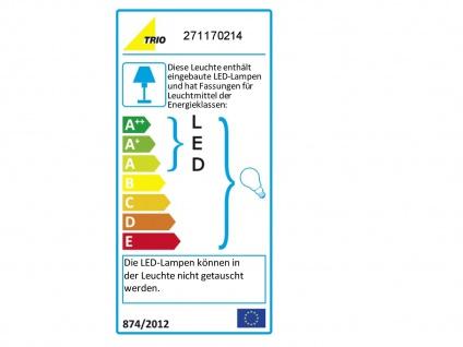 Wandleuchte mit Stoffschirm braun und LED Leselampe fürs Bett - Stecker Kabel - Vorschau 3