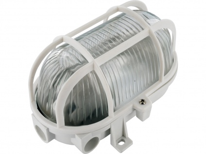 Kellerleuchte Kellerlampe Schiffsarmatur Ovalleuchte Schutzgitter ELRO