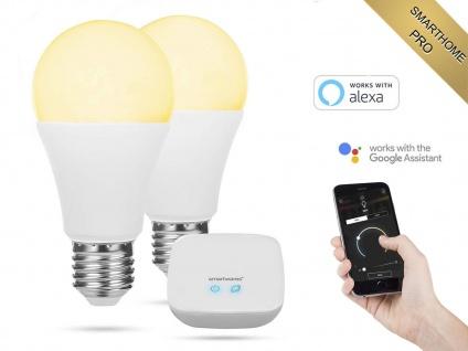 2er Set intelligente E27 Funk Leuchtmittel Smarthome PRO - dimmbar & Lichtfarbe