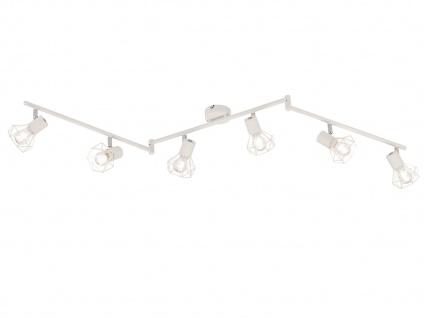 6flammige LED Deckenleuchte mit Lampenschirmen Metall weiß, Deckenstrahler