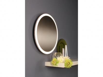 Angesagte LED Innenlampe für Wand und Decke mit Spiegel Design Silber rund 50cm - Vorschau 5