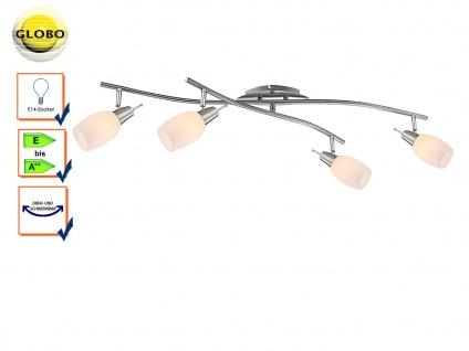 Globo Design Deckenstrahler schwenkbar, Glas weiß, Deckenleuchte Strahler
