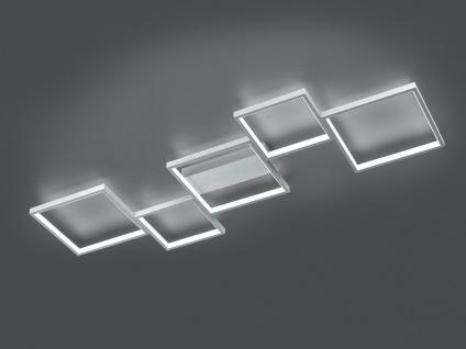 Ausgefallene LED Deckenlampe mit flachen eckigem Design für langem Flur Esstisch