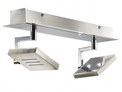 2-flammiger LED Deckenstrahler, schwenkbare Spots, Fischer SHINE - LED