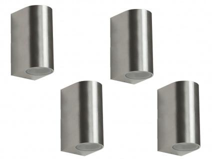 4er Set LED Wandleuchte Metall, up/downlight, 160Lm, warm, IP44