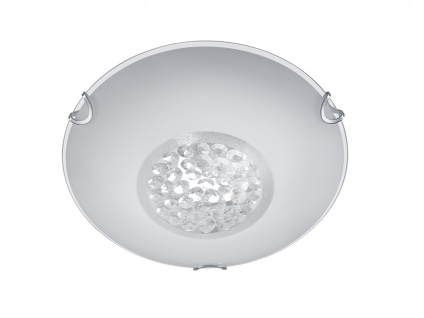 Deckenleuchte Deckenlampe CORMINT Chrom Glas weiß Kristall Ø 25 cm - Vorschau 2