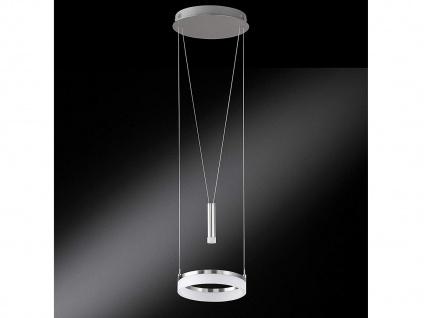 Dimmbare & höhenverstellbare Design LED Hängelampe rund Ø28cm, Jojo beleuchtet