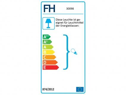 2 flammiger LED Deckenstrahler dimmbar mit Holzbrett rostfarben Industrial Style - Vorschau 2