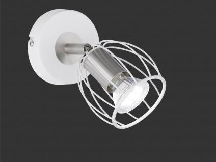 LED Wandspot dimmbar Gitterlampenschirm in Weiß schwenkbarer Wandstrahler Ø9, 5cm