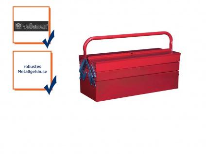 Werkzeugkoffer Werkzeugkiste Werkzeugkasten Metall 5 Fächer 53x20x20cm