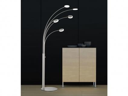 LED Design Stehlampe 5flammig dimmbar Bogenleuchte Standleuchte Fischer Leuchten