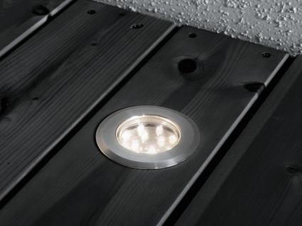 3 Stk LED Mini Bodenspots Edelstahl, Ø7cm, Einbaustrahler für Garten & Terrasse