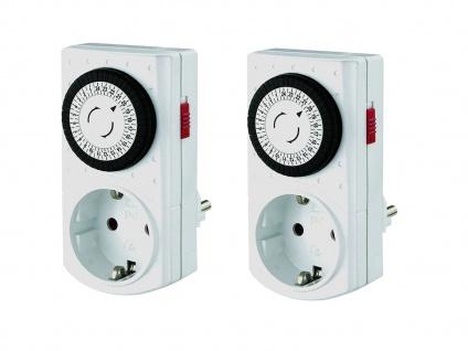 2 x Kompakte Tageszeitschaltuhren -Mini Mechanisch- erhöhter Berührungsschutz