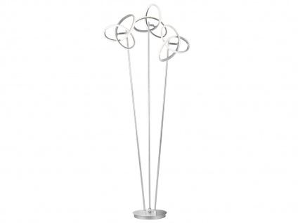LED Stehleuchte in Blattsilber-Optik Höhe 140cm verstellbar - Designerleuchten