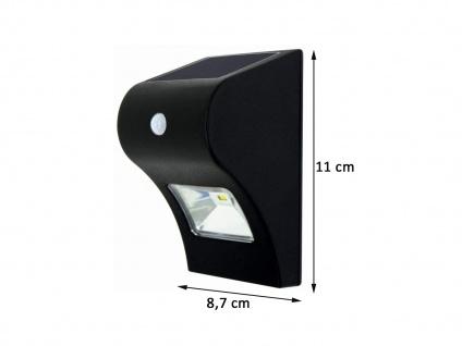 Solar LED Treppenlicht Stufen Orientierungslicht für Außenbereich, 11x9cm, IP44