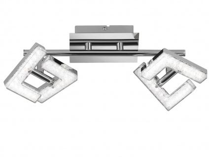 LED Deckenleuchte Strahler schwenkbar 2x 4W Chrom poliert Beleuchtung Wohnzimmer