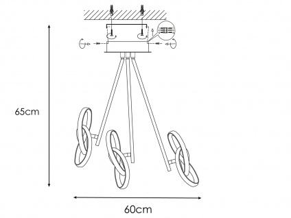 LED Deckenleuchte Blattsilber-Optik 39W verstellbar - Designerleuchte Esszimmer - Vorschau 4