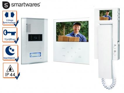 Einparteien Video Türsprechanlage mit Touchscreen + Extra Sprechstelle Monitor