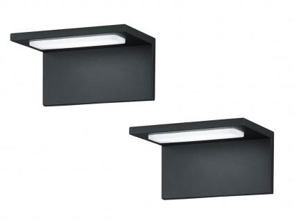 Moderne LED Außenwandleuchten Anthrazit - 2er Set Terrassenbeleuchtung Wandlampe - Vorschau 2