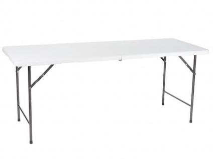 Klapptisch ROBUST & WETTERFEST 180cm lang Faltbar weiß, Garten Camping Tische