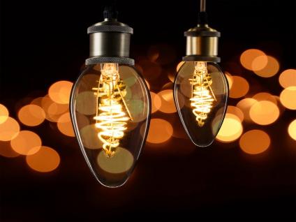 2x LED Leuchtmittel 3 Watt, 150 Lumen, 2000 Kelvin, E14-Sockel, Filament LED - Vorschau 4